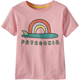 Patagonia Graphic Organic Camiseta Niños, single fin sunrise/rosebud pink